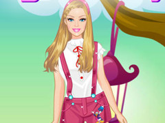 Barbie army style dress up game